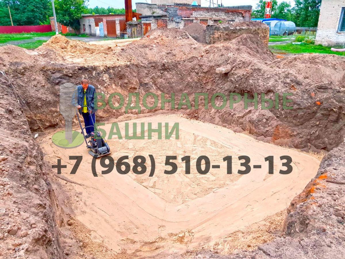 Трамбовка песчаной подушки под фундамент ВБР