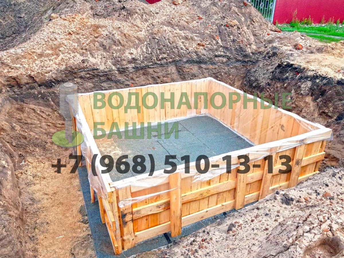Установка опалубки под фундамент ВБР