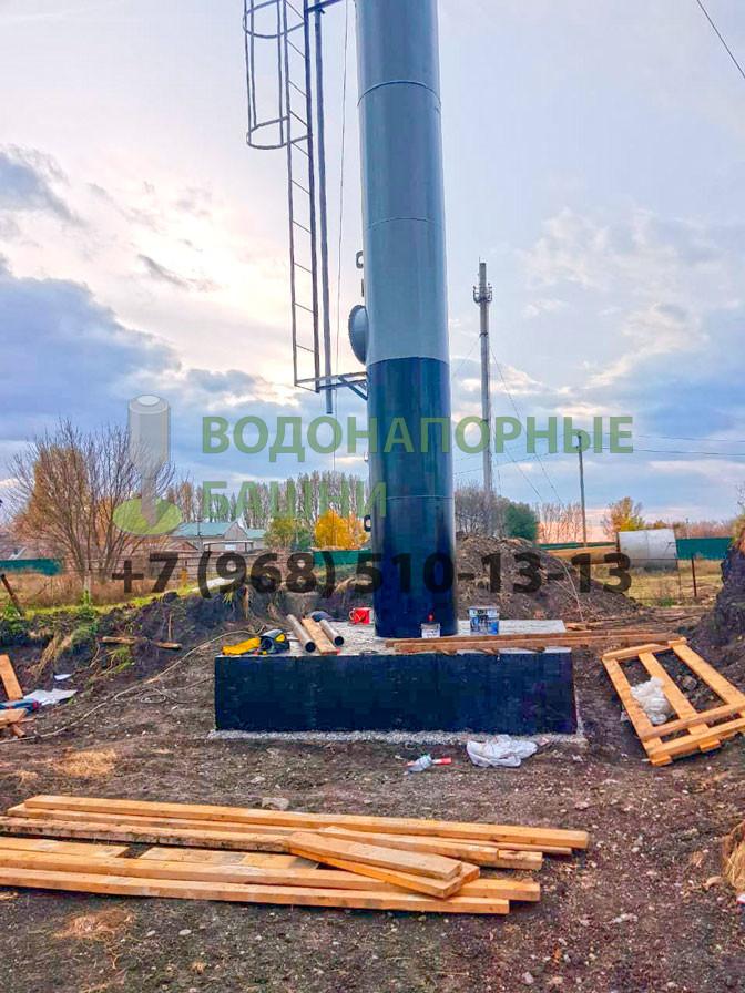Монтаж водонапорной башни